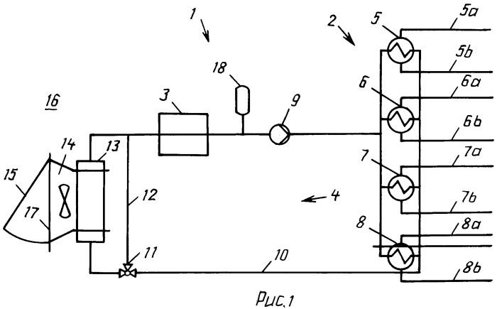 Комбинированная система, состоящая из теплогенерирующей системы и системы тепловыделяющих элементов