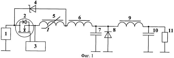 Высокочастотный квазирезонансный преобразователь напряжения с полной волной тока резонансного цикла