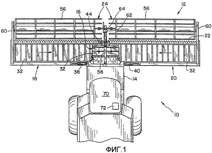 Управление высотой мотовила для гибкой платформенной жатки в сельскохозяйственной уборочной машине