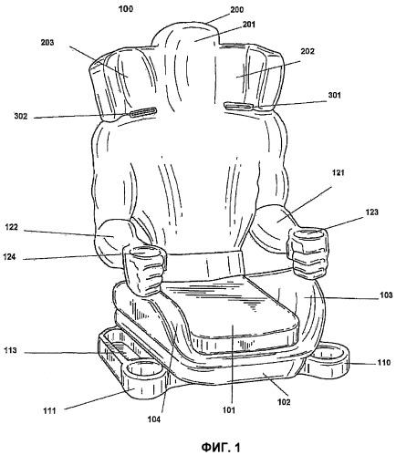 Детское автомобильное безопасное кресло, имеющее форму человеческого тела