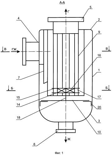 Сепаратор газовый вихревого типа (варианты)
