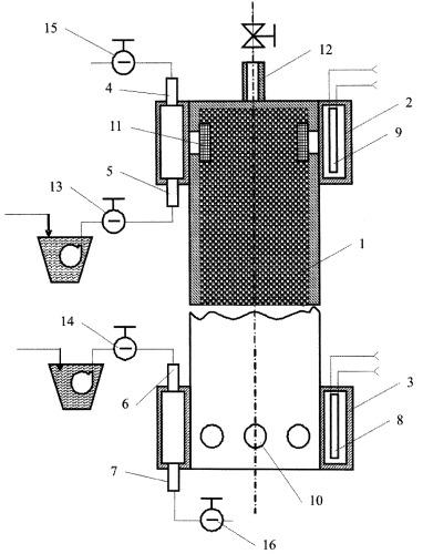 Способ проведения массообмена в системе двух несмешивающихся жидкостей и устройство для его осуществления