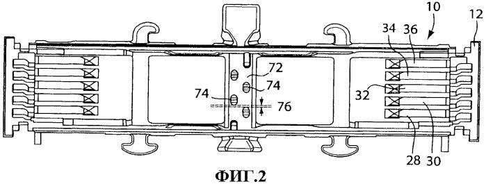 Держатель лезвий для картриджей бритвы с множеством лезвий