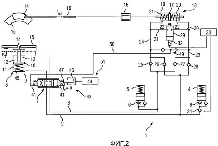 Тормозная система с гидравлическим приводом с защитной функцией
