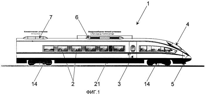 Высокоскоростной железнодорожный пассажирский состав