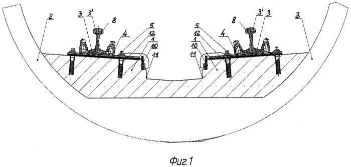 Способ сооружения рельсового пути, конструкция рельсового пути, сооружаемая этим способом, и промежуточное рельсовое скрепление