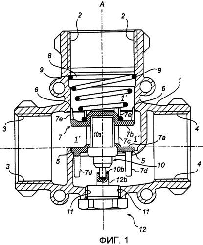 Тепловой многоходовой клапан