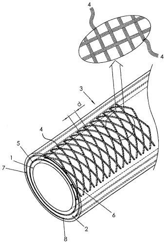 Композитная труба, включающая трубу из сшитого полиэтилена