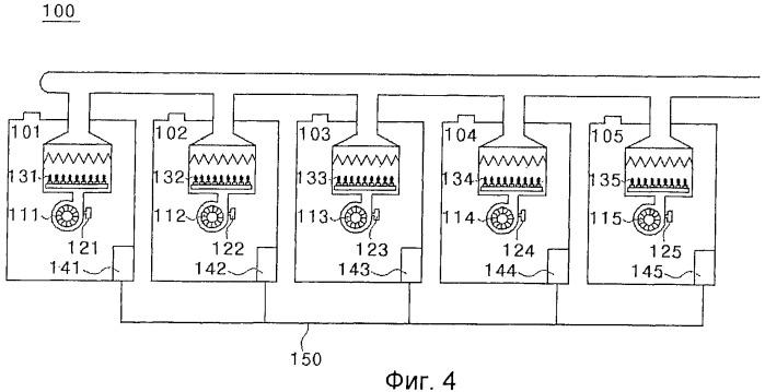 Многосекционный котел и способ управления таким котлом, предотвращающие опрокидывание тяги уходящих газов