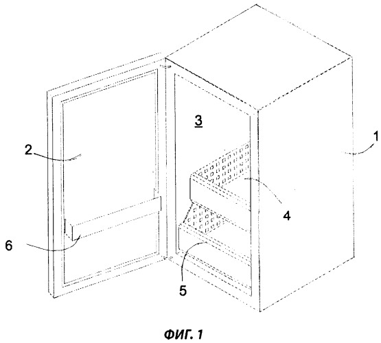 Холодильный аппарат с выдвижной емкостью для охлаждаемых продуктов