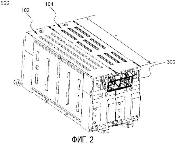 Аккумуляторная батарея, содержащая устройство соединения электродных выводов