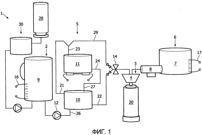Устройство для приготовления напитка из стерилизованной воды и быстрорастворимого продукта