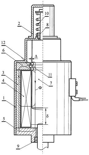 Линейный электромагнитный двигатель ударного действия