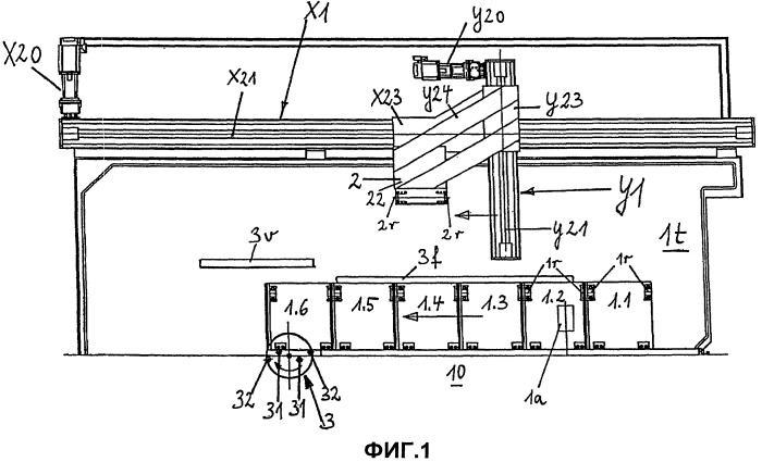 Устройство для гофрирования с устройством для разъема формы
