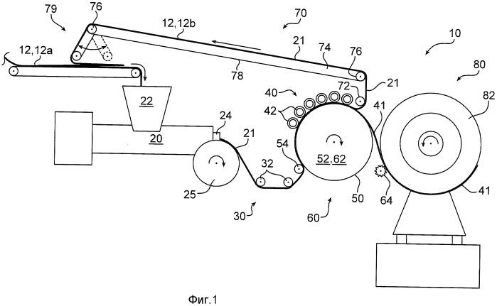 Способ и устройство для образования многослойного компонента шины