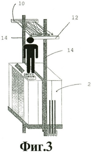 Лифтовая установка и способ обеспечения безопасности человека, находящегося на крыше кабины движущегося лифта