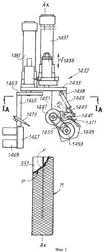 Устройство и способ для выравнивания края, окружающего конец кругловязаного изделия