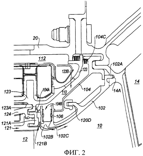 Переходной канал между двумя ступенями турбины и газотурбинный двигатель