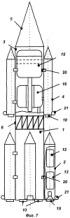 Многоступенчатая ракета-носитель, жидкостный ракетный двигатель и блок сопел крена