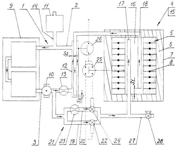 Автономная система подогрева воды для использования в системе потребления, преимущественно отопления и/или горячего водоснабжения