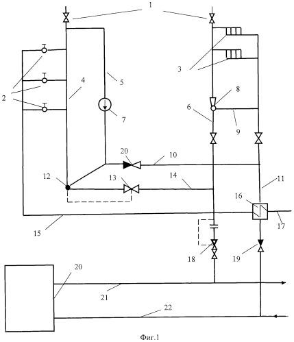 Централизованная двухтрубная система теплоснабжения открытого типа