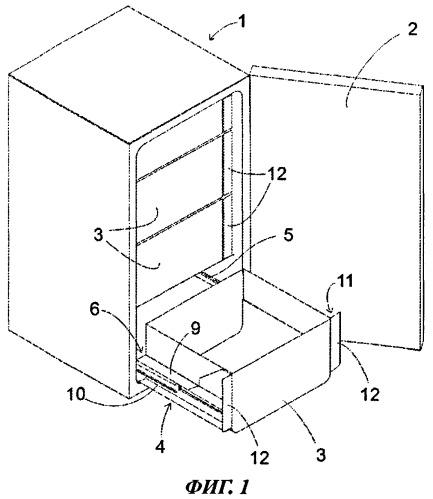 Холодильный аппарат с телескопической выдвижной конструкцией