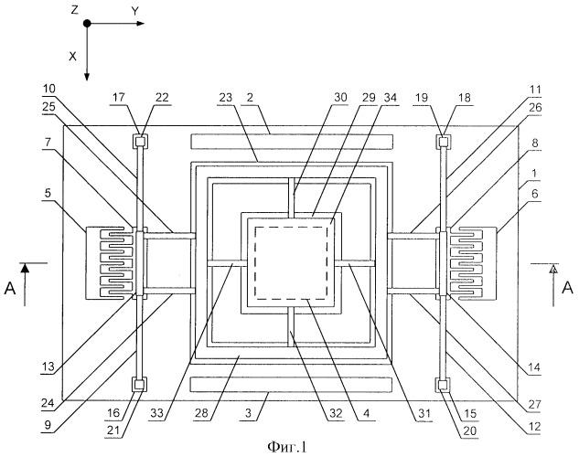 Интегральный микромеханический гироскоп-акселерометр на основе углеродных нанотрубок