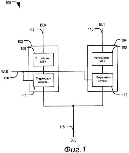 Устройство магниторезистивной оперативной памяти с совместно используемой линией истока
