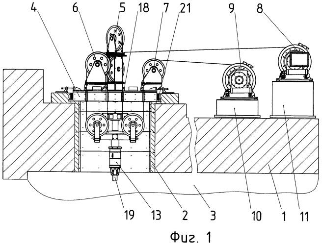 Устройство для перегрузки чехлов с отработавшим ядерным топливом