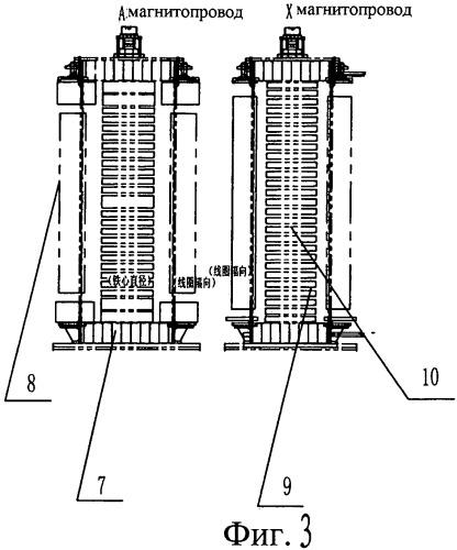 Конструкция реактора с двумя активными частями