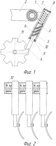 Предохранительное устройство почвообрабатывающего орудия