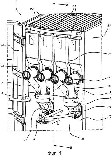 Приготавливающее устройство с всасывающим каналом для приготовления напитка из порошкообразного вещества и горячей жидкости