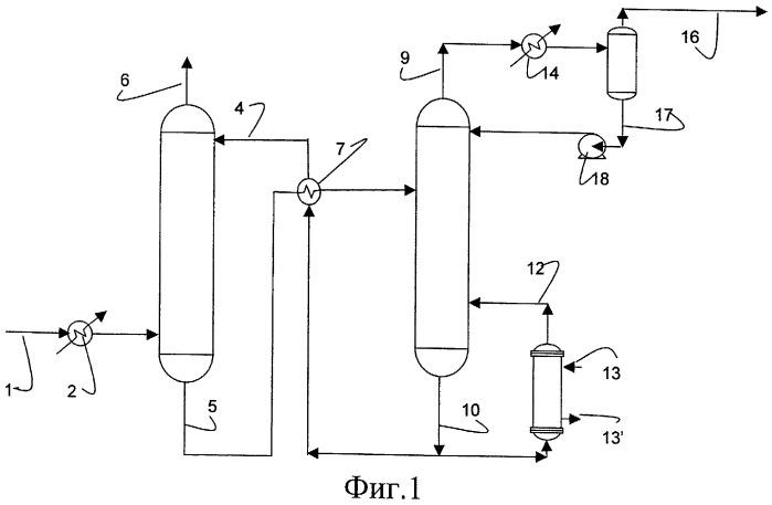 Регенерация поглотителя отбираемым сжатым верхним потоком для обеспечения тепла