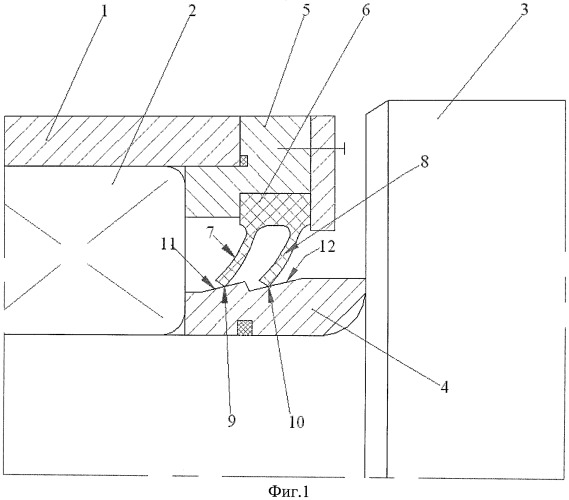 Уплотнительное устройство подшипника прокатного валка