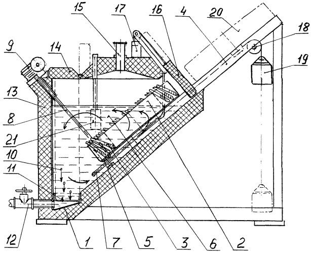 Способ и устройство удаления керамического материала из отливок
