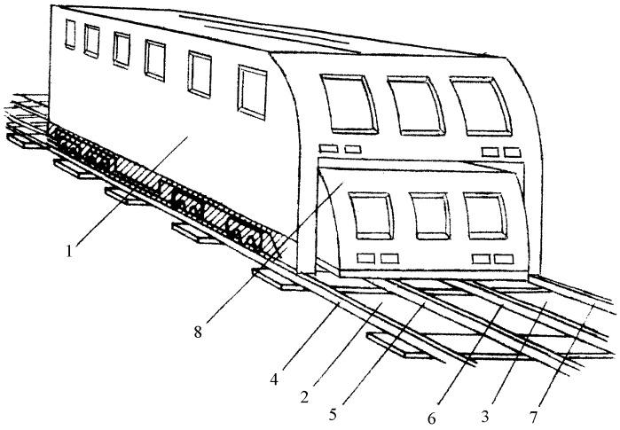 Подвижная единица железнодорожного транспорта и способ ее эксплуатации