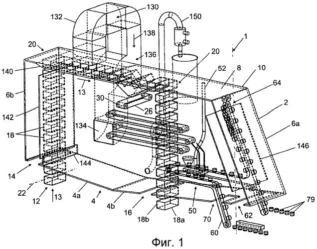 Способ и устройство для упаковки материала в упаковочный контейнер