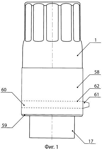 Устройство с наполнителем для укупоривания бутылки и обработки находящегося в ней жидкого продукта