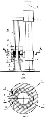 Установка для электрошлаковой выплавки крупных полых и сплошных слитков