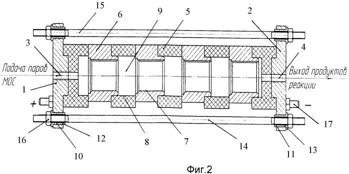Устройство для нанесения металлических покрытий на внутренние поверхности подшипников скольжения cvd-методом металлоорганических соединений