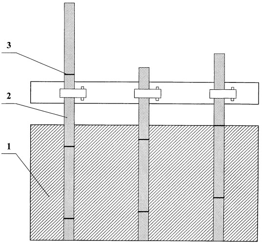 Анодный токоподвод алюминиевого электролизера