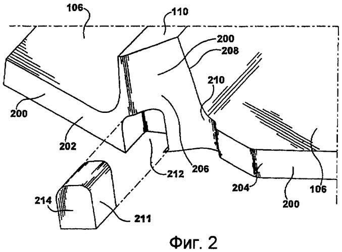 Система предотвращения износа концевых бандажных полок лопаток турбины