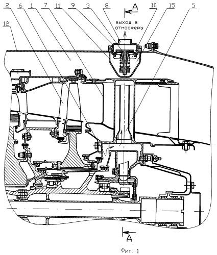 Система суфлирования опоры турбины двухконтурного турбореактивного двигателя