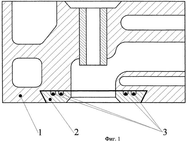 Устройство биметаллического днища головки цилиндров двигателя внутреннего сгорания