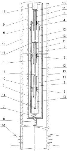 Многоступенчатая штанговая насосная установка