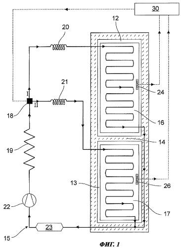 Способ эксплуатации холодильного аппарата, содержащего параллельно соединенные испарители, и холодильный аппарат