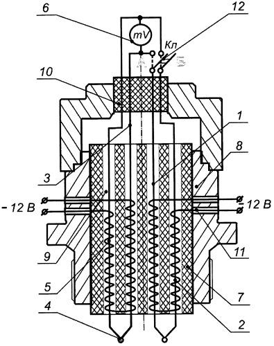 Датчик для определения реакционной способности газообразных и конденсированных продуктов