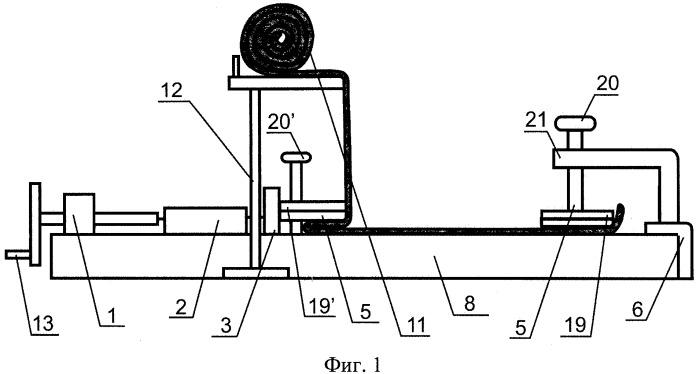 Устройство для определения деформационных свойств трикотажных полотен при растяжении неразрушающим методом