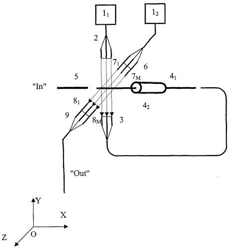 Оптический функциональный нанопреобразователь