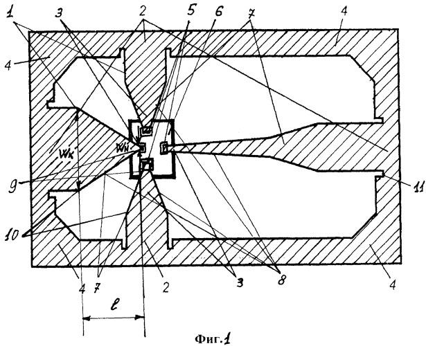 Выводная рамка для свч и квч полупроводникового прибора